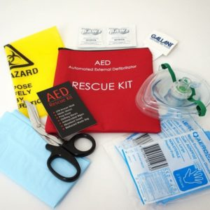 Automated External AED defibrillator Rescue Kit
